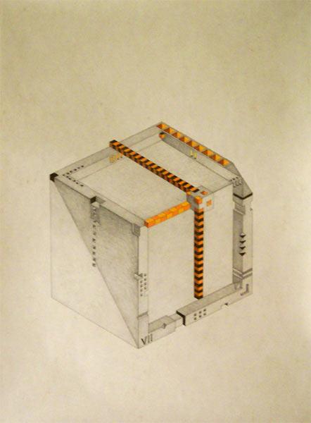 Cubic clock (9-00) (2004-2006)